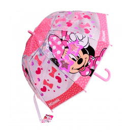 Guarda Chuva Transparente e Rosa Minnie Disney