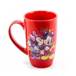 Caneca Vermelha True Love Mickey e Minnie